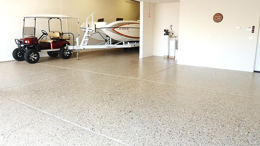 Photo of a floor with an epoxy finish